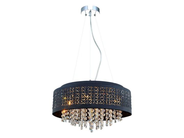 Lampa wisząca Doris 4 x 40 W G9 czarna Lampa z kryształkami Metal Kryształ Lampa z abażurem Ilość źródeł światła 4 źródła
