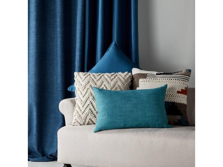 Poduszka GoodHome Hiva 60 x 60 cm niebieska Poduszka dekoracyjna Bawełna 60x60 cm Kwadratowe Poliester Wzór Jednolity
