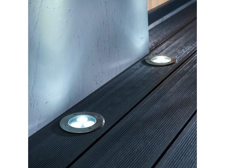Oświetlenie tarasowe LED Blooma Brockton okrągłe 310 lm 4000 K stalowe