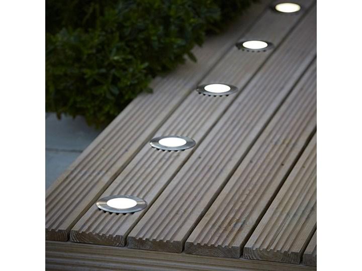 Oświetlenie tarasowe LED Blooma Brockton okrągłe 300 lm 4000 K stalowe Oprawa najazdowa Kolor Czarny Kategoria Lampy ogrodowe
