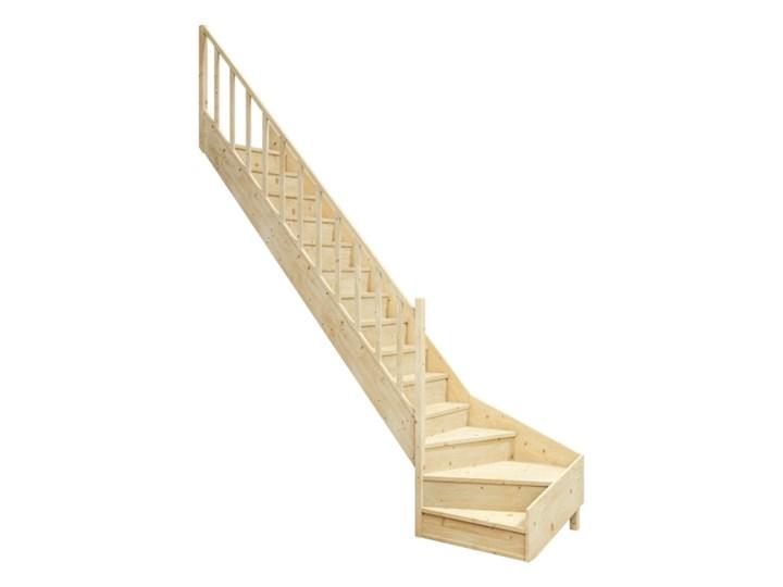 Schody drewniane EQG lewe