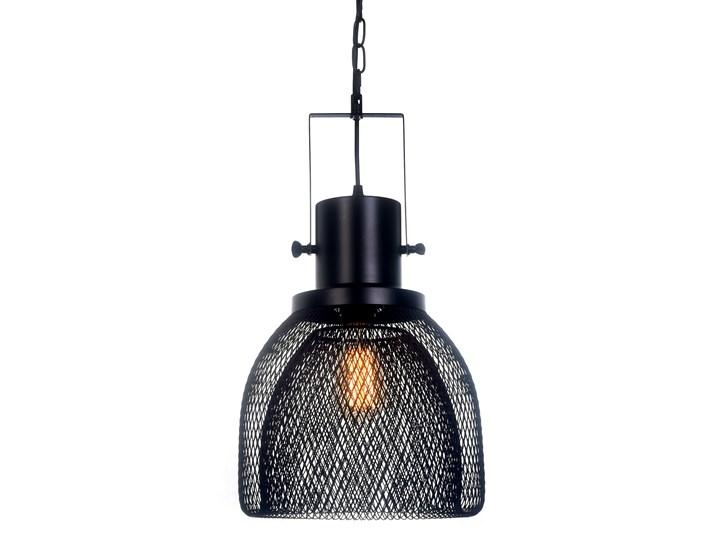 LAMPA WISZĄCA CZARNA FRATTON Lampa z abażurem Metal Kolor Czarny Lampa z kloszem Lampa druciana Styl Nowoczesny