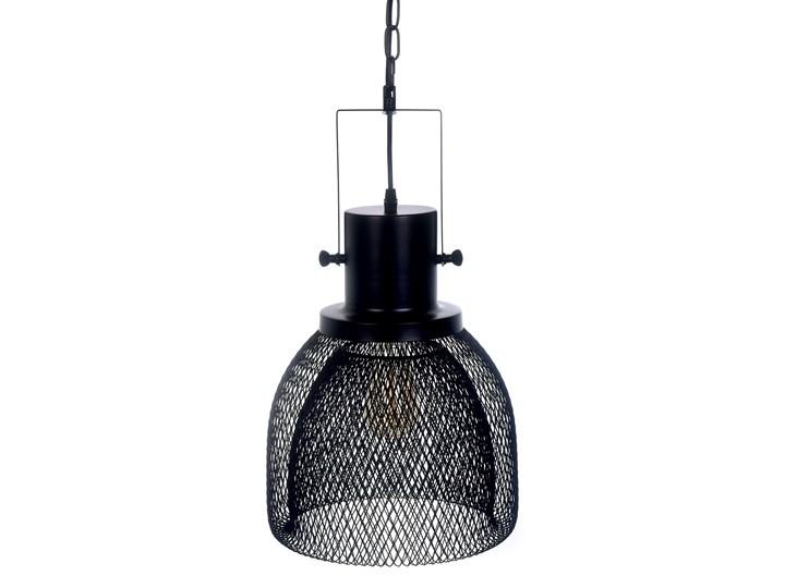 LAMPA WISZĄCA CZARNA FRATTON Lampa z abażurem Lampa druciana Lampa z kloszem Metal Kolor Czarny Styl Nowoczesny