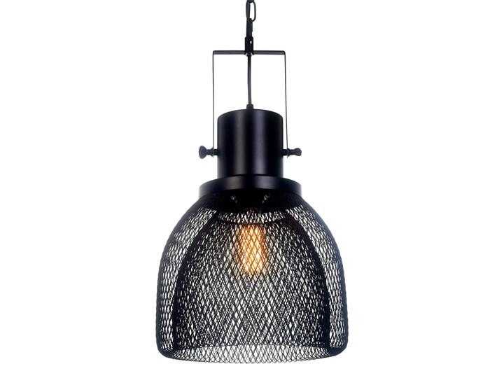 LAMPA WISZĄCA CZARNA FRATTON Metal Styl Industrialny Lampa z kloszem Lampa z abażurem Lampa druciana Kolor Czarny