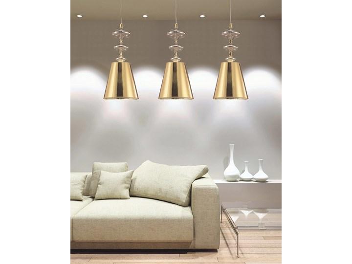 NOWOCZESNA LAMPA WISZĄCA ZŁOTA VENEZIANA W1 Lampa z kloszem Metal Szkło Tkanina Styl Klasyczny