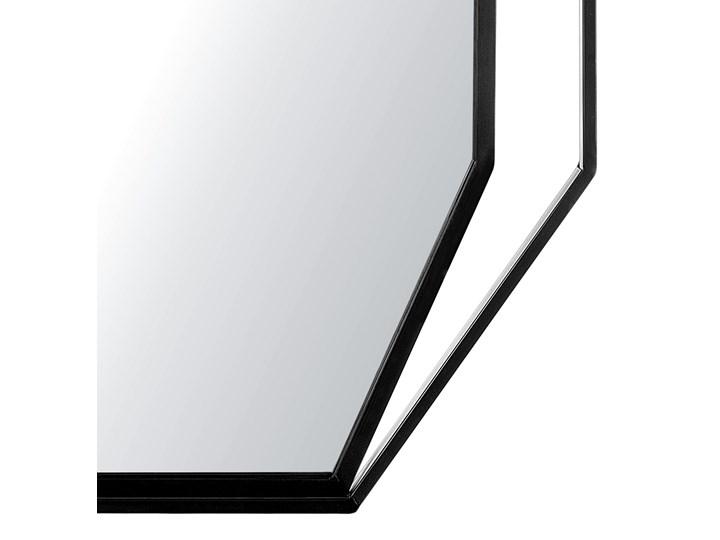 Lustro ścienne wiszące ośmiokątne szare metalowe 80 x 60 cm styl nowoczesny minimalistyczny Styl Glamour