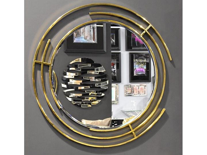 Nowoczesne lustro w złotej stalowej ramie Ø 90 cm LW6856 Kategoria Lustra