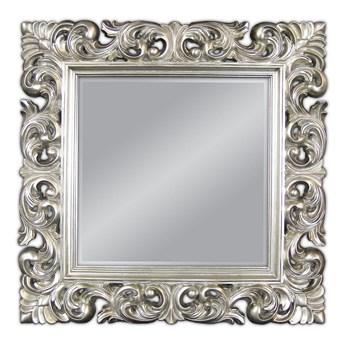 Lustro w srebrnej ramie 92x92 PU-049 K