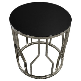 Designerski srebrny stolik 50 x 53 cm D10