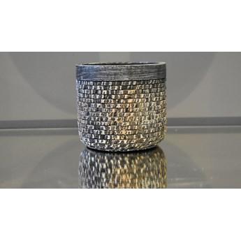 Srebrna strukturalna doniczka Ø 12 x 11 cm 171004/1 Bronze