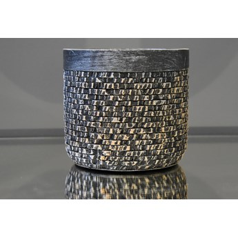 Srebrna strukturalna doniczka Ø 17 x 14 cm 171004/2 Bronze