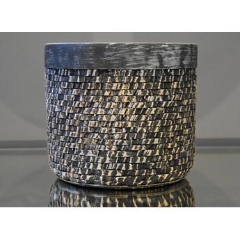 Srebrna strukturalna doniczka Ø 20 x 18 cm 171004/3 Bronze