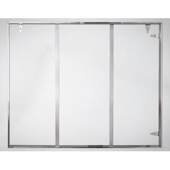 Srebrna oprawa obrazu wykonana z polerowanej stali nierdzewnej 161x161 TH18