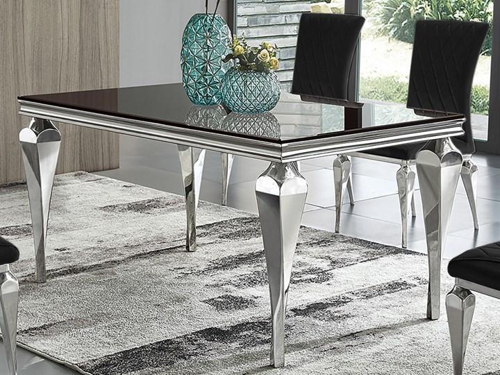 Stół z czarnym szklanym blatem 150 x 90 x 75 cm TH951
