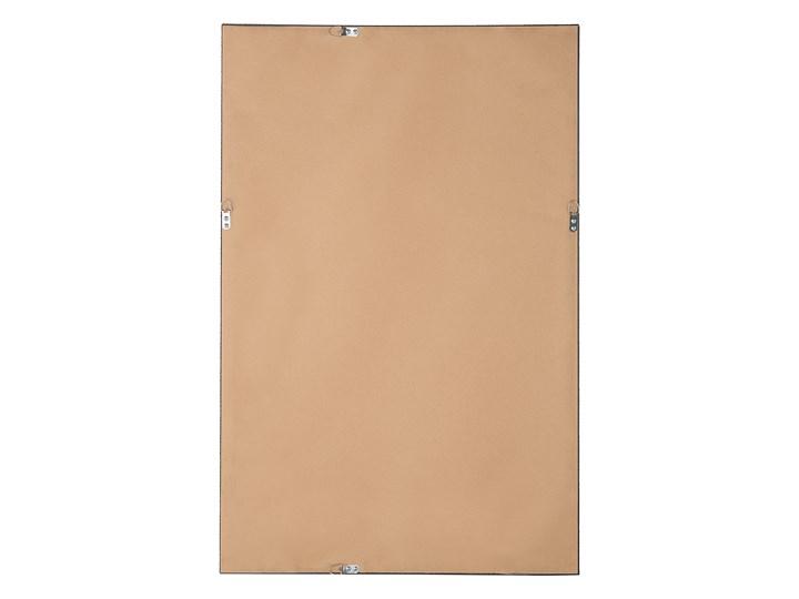 Lustro ścienne wiszące złote 60 x 90 cm dekoracyjne Lustro z ramą Prostokątne Kategoria Lustra Pomieszczenie Salon