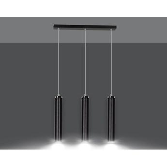 LUNA 3 BLACK 956/3 designerski spot wiszący tuby czarne chrom