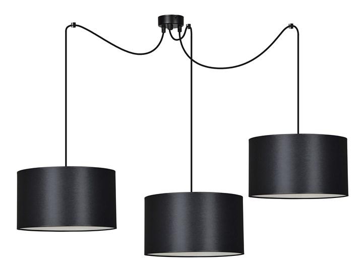 ROTO 3 BLACK 186/3 lampa wisząca czarna z abażurem biały środek Lampa z abażurem Metal Pomieszczenie Salon