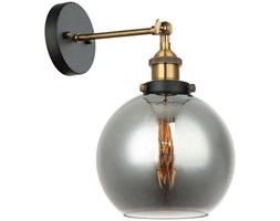 Kinkiet LAMPA ścienna CARDENA MBM-4330/1 GD+SG Italux loftowa OPRAWA szklana kula ball skandynawska przydymiona