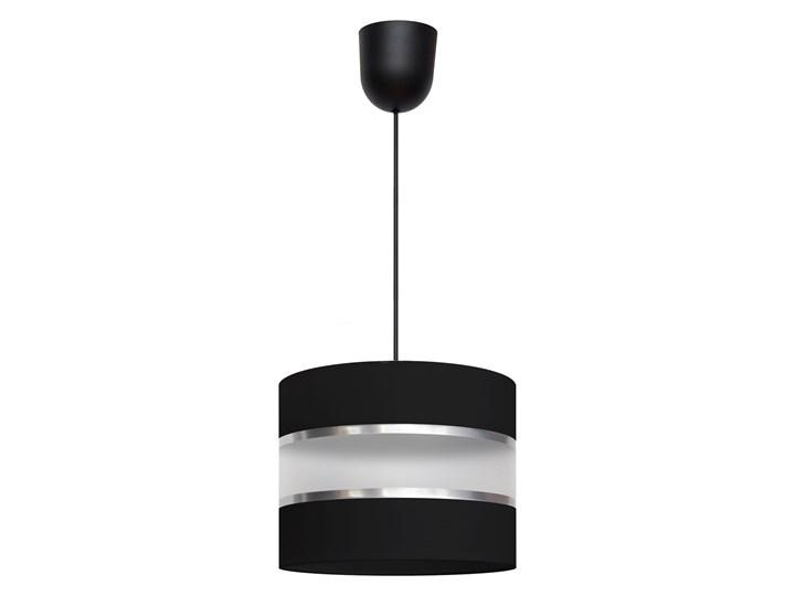 Lampa abażur HELEN W-0801/1 BK+SL+MAT Lampa z abażurem Tworzywo sztuczne Styl Klasyczny
