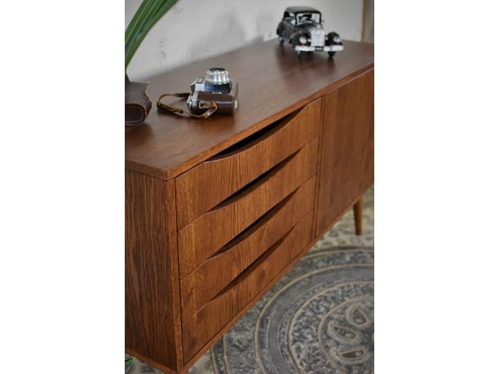 Komoda Classy Brown Mini 120, Pastform Furniture Wysokość 49 cm Z szafkami i szufladami Szerokość 120 cm Wysokość 75 cm Głębokość 40 cm Drewno Kolor Brązowy