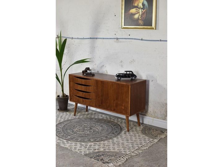 Komoda Classy Brown Mini 120, Pastform Furniture Drewno Styl Nowoczesny Z szafkami i szufladami Wysokość 49 cm Głębokość 40 cm Wysokość 75 cm Szerokość 120 cm Kolor Brązowy