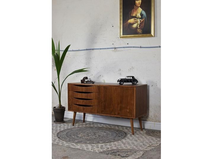 Komoda Classy Brown Mini 120, Pastform Furniture Kolor Brązowy Wysokość 75 cm Szerokość 120 cm Wysokość 49 cm Drewno Z szafkami i szufladami Głębokość 40 cm Styl Nowoczesny