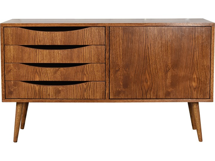 Komoda Classy Brown Mini 100, Pastform Furniture Głębokość 40 cm Szerokość 100 cm Wysokość 75 cm Drewno Z szafkami i szufladami Styl Skandynawski