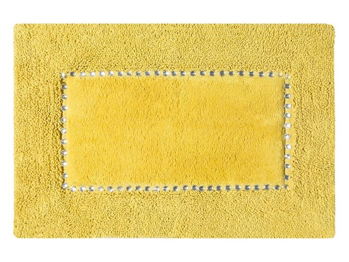 Dywanik łazienkowy Chic Kryształki 75 x 150 musztardowy