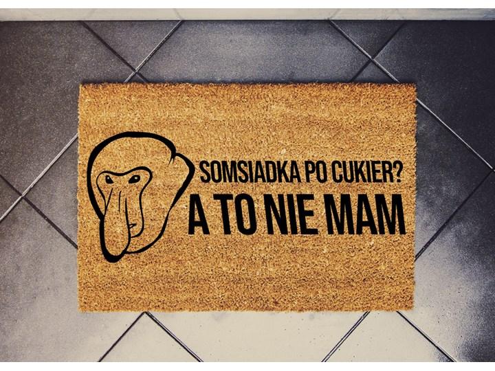 """""""Somsiadka po CUKIER?"""" wycieraczka kokosowa Nosacz"""