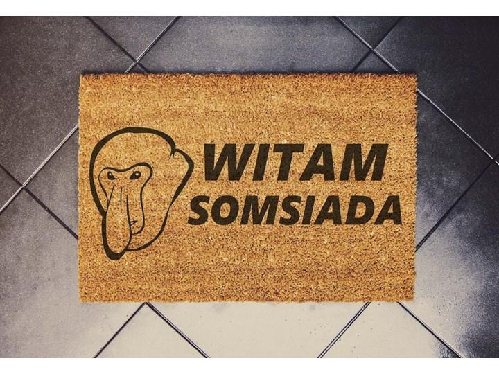 """""""WITAM SOMSIADA"""" wycieraczka kokosowa Nosacz"""
