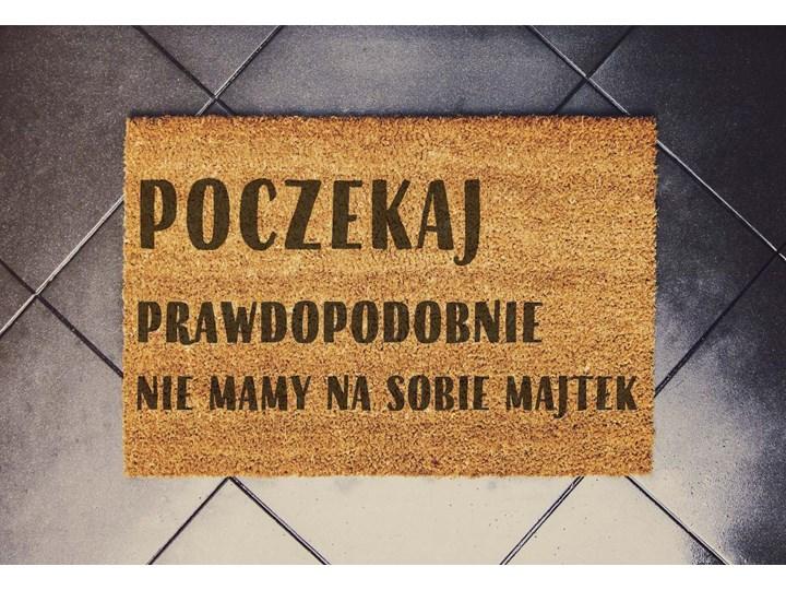 """""""POCZEKAJ"""" wycieraczka kokosowa"""