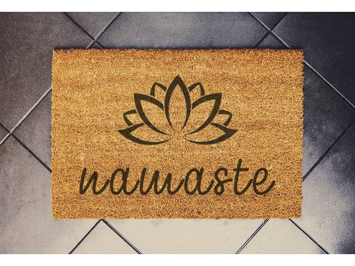 """""""Lotus Flower-namaste"""" wycieraczka kokosowa"""