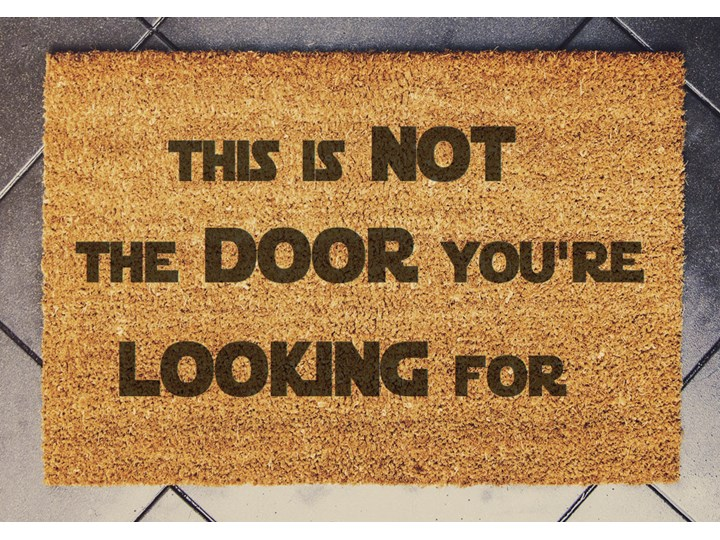 """THIS IS NOT THE DOOR"" wycieraczka kokosowa"