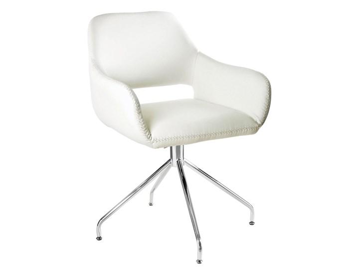 Obrotowe krzesło z podłokietnikami Talia Szerokość 58 cm Wysokość 82 cm Głębokość 42 cm Kategoria Krzesła kuchenne Kolor Szary