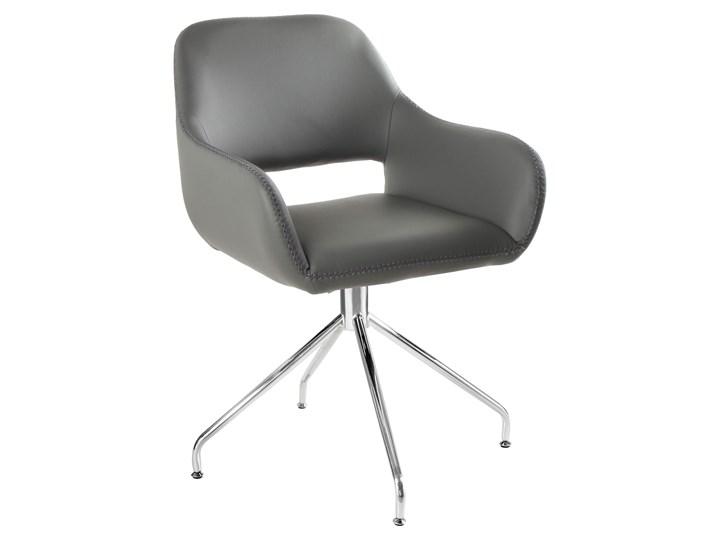 Obrotowe krzesło z podłokietnikami Talia Kategoria Krzesła kuchenne Wysokość 82 cm Szerokość 58 cm Głębokość 42 cm Kolor Szary