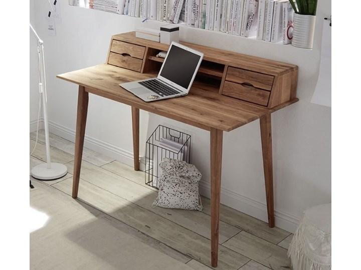 Drewniane biurko z nadstawką i szufladami Derby Styl Skandynawski Szerokość 110 cm Biurko tradycyjne Głębokość 58 cm Drewno Styl Vintage