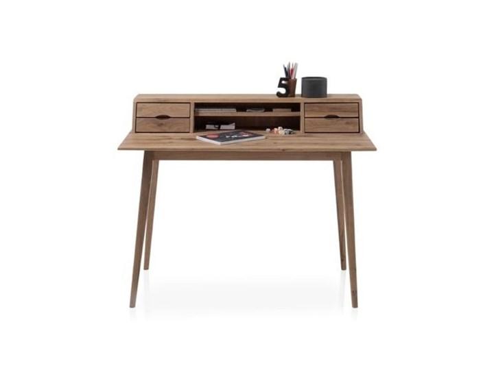 Drewniane biurko z nadstawką i szufladami Derby Głębokość 58 cm Biurko tradycyjne Szerokość 110 cm Drewno Styl Vintage Styl Skandynawski