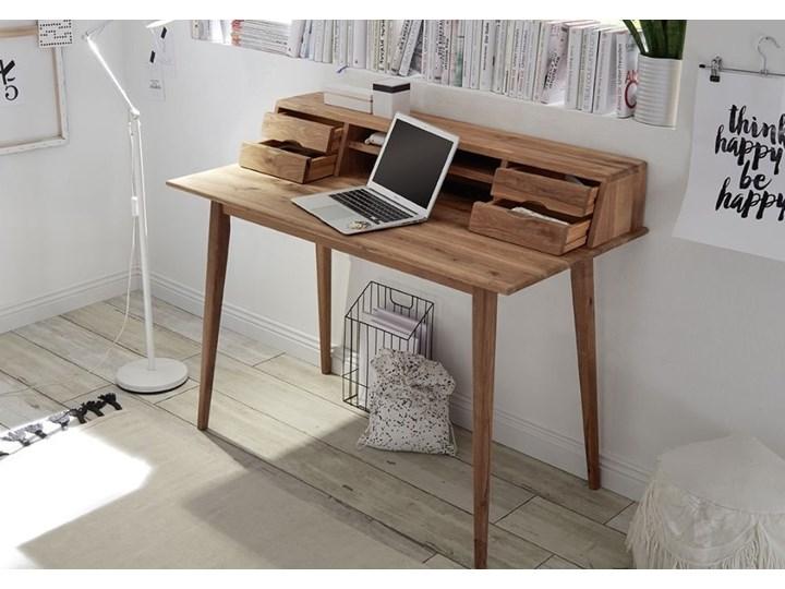 Drewniane biurko z nadstawką i szufladami Derby Styl Skandynawski Drewno Biurko tradycyjne Szerokość 110 cm Głębokość 58 cm Styl Vintage