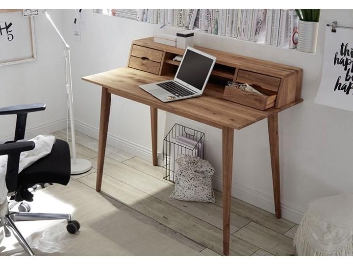Drewniane biurko z nadstawką i szufladami Derby Biurko tradycyjne Styl Vintage Szerokość 110 cm Głębokość 58 cm Drewno Kategoria Biurka