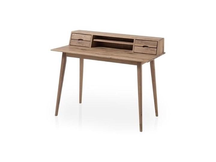 Drewniane biurko z nadstawką i szufladami Derby Drewno Głębokość 58 cm Biurko tradycyjne Szerokość 110 cm Styl Vintage