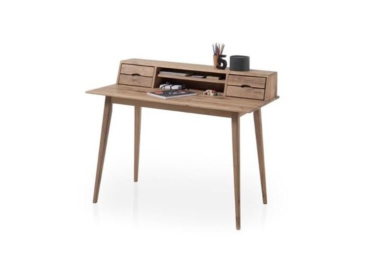 Drewniane biurko z nadstawką i szufladami Derby