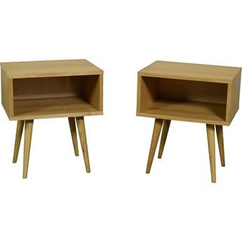 Para szafek nocnych Bedie Light, Pastform Furniture