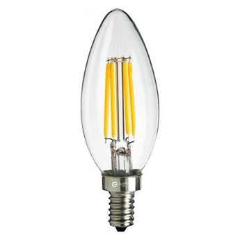 Żarówka ozdobna FILAMENT LED E14 4W ciepła 2700K świeczka