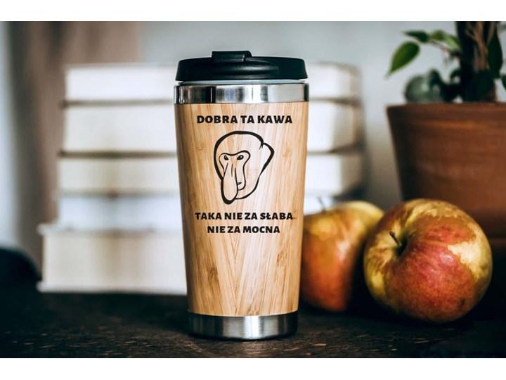 """""""Dobra ta kawa"""" bambusowy kubek termiczny nosacz"""