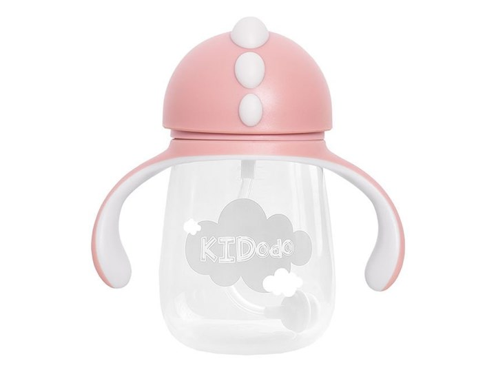 KIDodo - Bidon z Obciążoną Słomką, Różowy, 260 ml, 6m+
