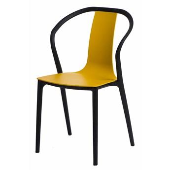 Designerskie krzesło Emeli - żółte
