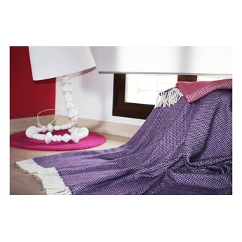Kremowy pled z domieszką bawełny Euromant Zen, 140x180 cm