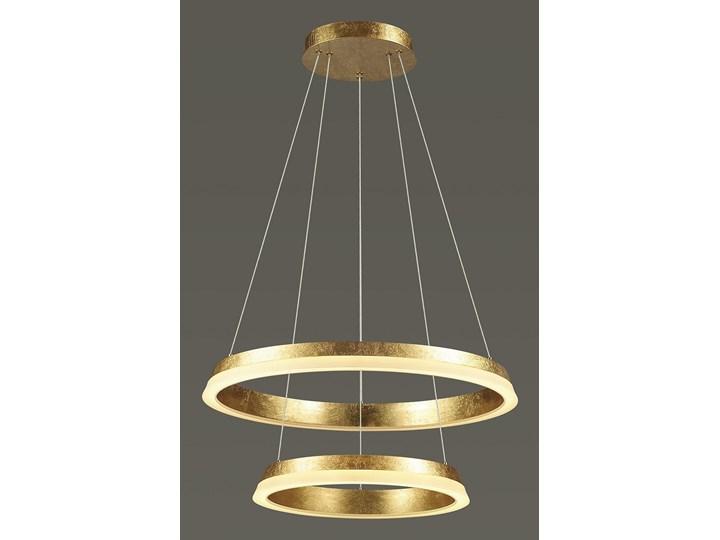 Innowacyjna Lampa Wisząca GOLDEN II Złoty Okręgi Zwis Sufitowy Metal Oprawa Źródło Światła LED Oświetlenie Auhilon
