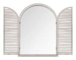 Lustro dekoracyjne WOOD WINDOW, 74x104 cm, kolor szary