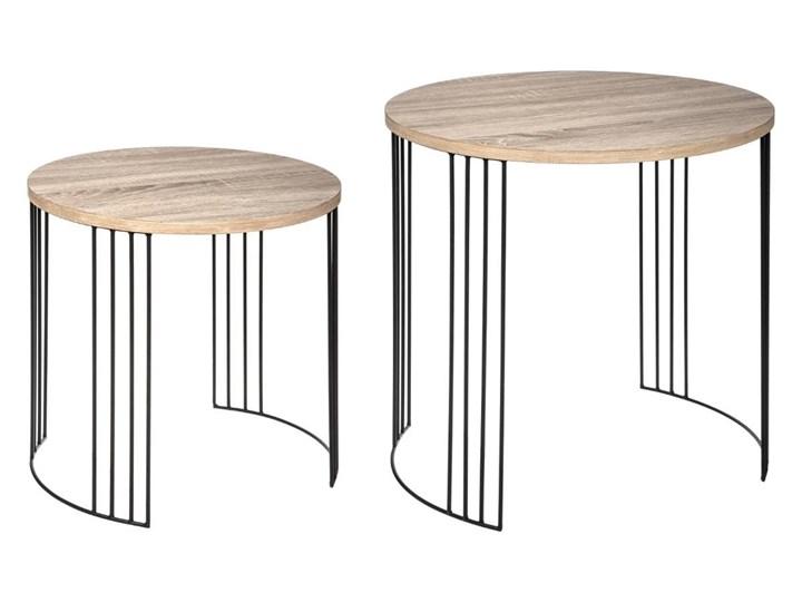 Komplet stolików okazjonalnych NEILE, 2 rozmiary,, 2 sztuki w komplecie Zestaw stolików